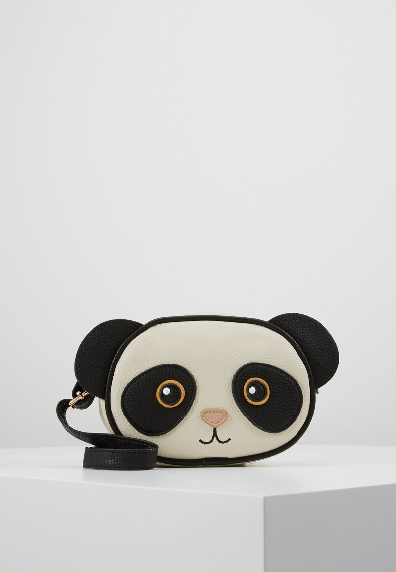 Molo - PANDA BAG - Across body bag - black/white