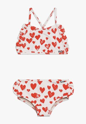 NANDA SET - Bikini - white/red