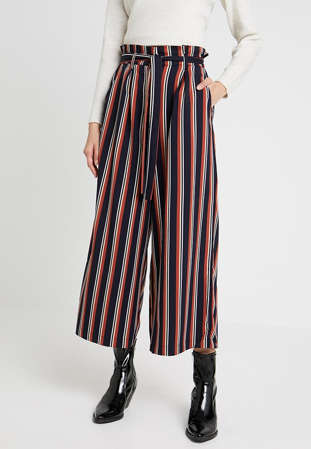 STRIPE PAPER BAG PANT - Trousers - multi