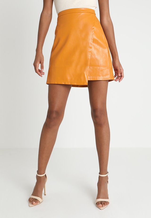 HELLO YOU SKIRT - Wrap skirt - mustard