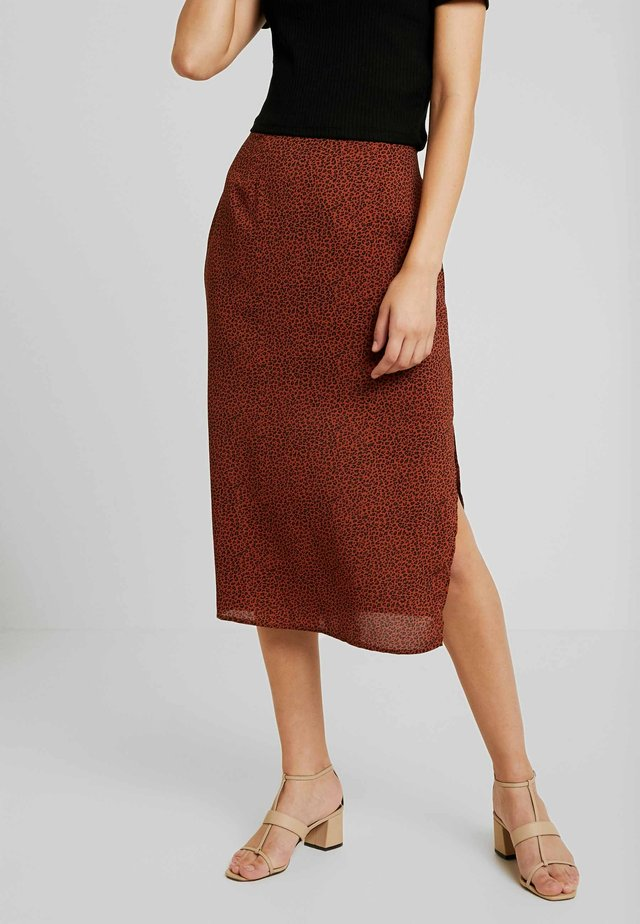 WILD CAT MIDI SKIRT - Pencil skirt - multi