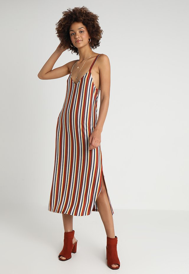 MULTI STRIPE SLIP DRESS - Maxi-jurk - multi