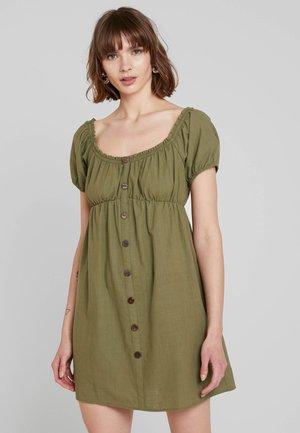 PUFF MINI DRESS - Blusenkleid - khaki