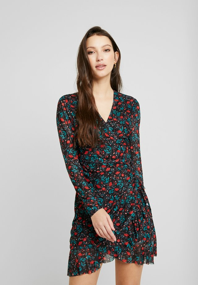 HOLLY WRAP DRESS - Korte jurk - multi
