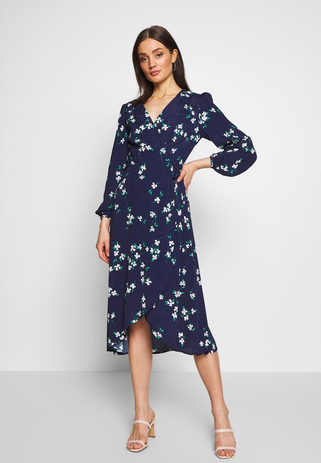 FLORAL - Day dress - blue/white