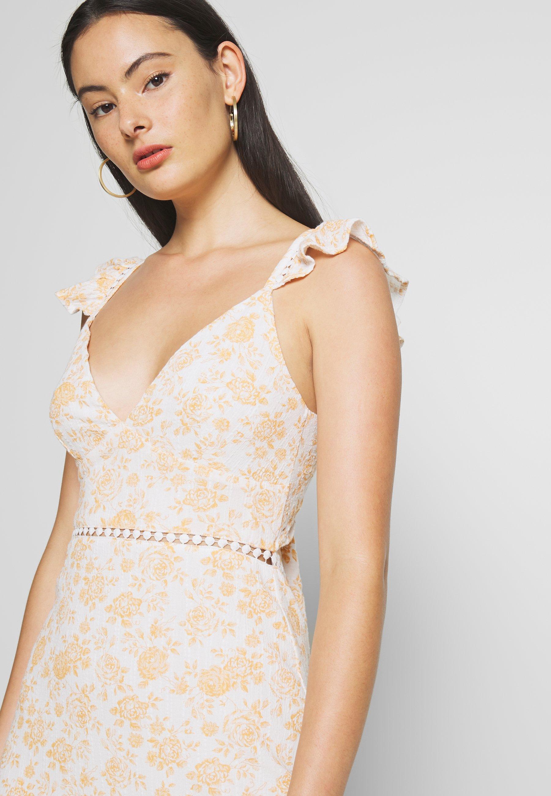 MINKPINK KISS THE STARS MINI DRESS - Sukienka letnia - golden