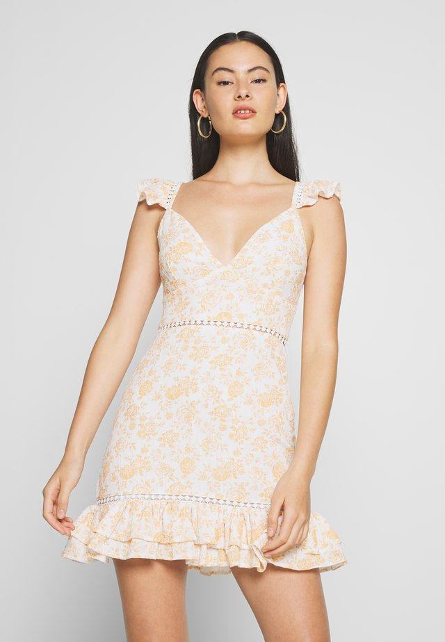 KISS THE STARS MINI DRESS - Korte jurk - golden
