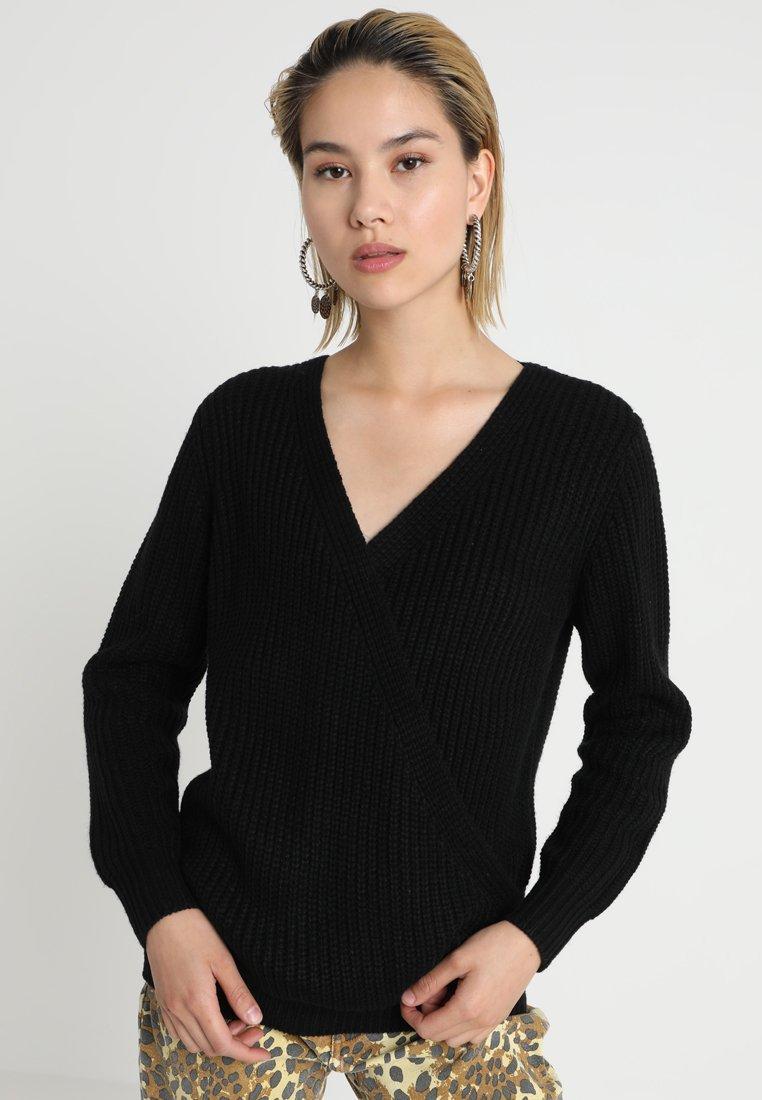 MINKPINK - WRAP FRONT - Pullover - black