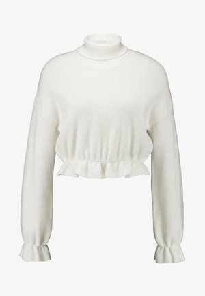 ALL MY FRIENDS FRILL JUMPER - Jersey de punto - winter white