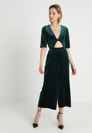 TWIST FRONT - Jumpsuit - emerald green