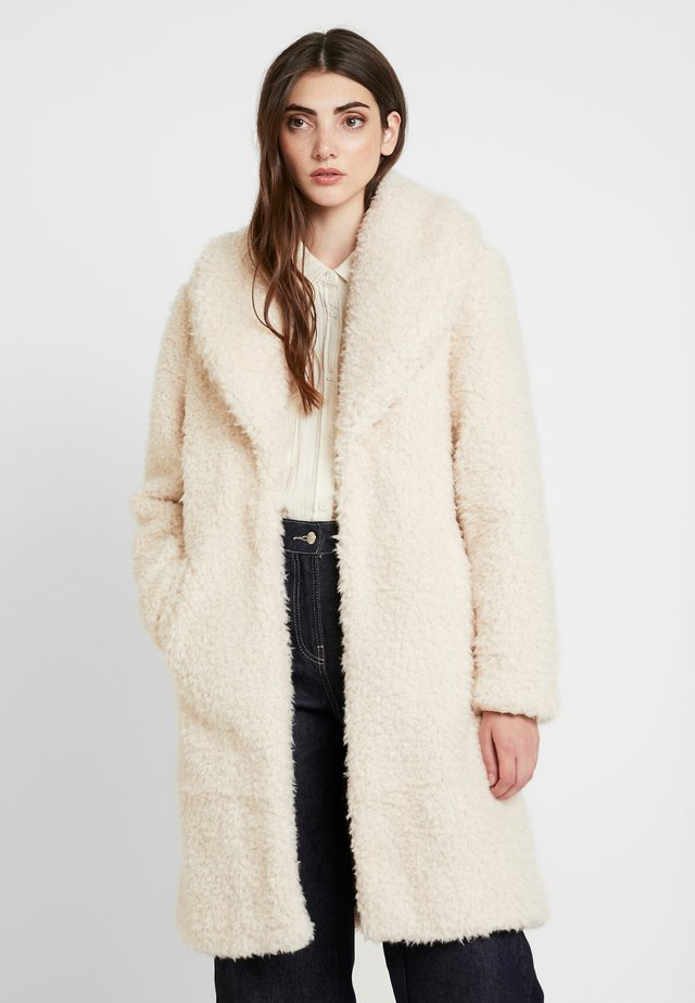 LONG COAT - Winter coat - cream/gold