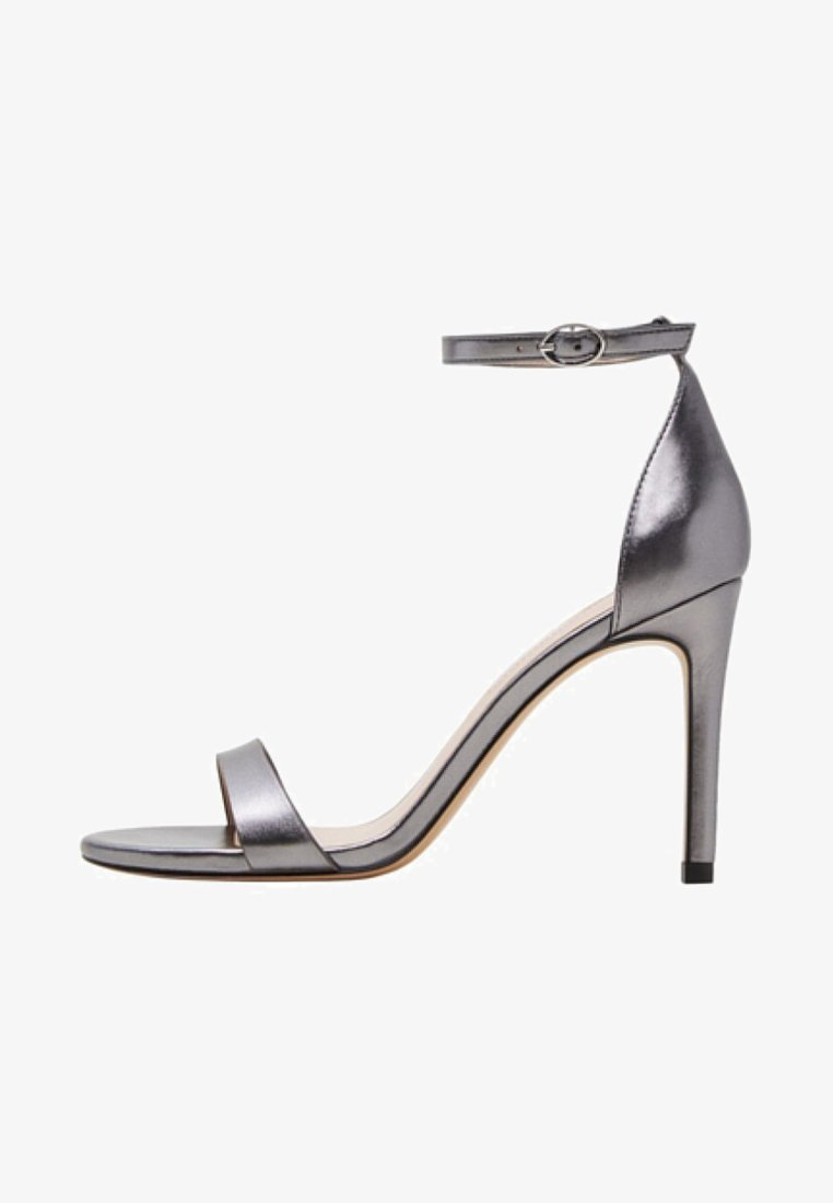 Mango - SALVATORE - High Heel Sandalette - dark silver