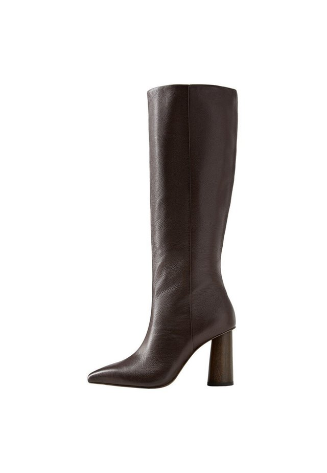 WOOD - High heeled boots - granatrot