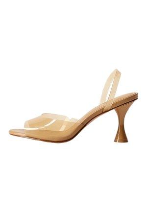 TATI - High heeled sandals - okker