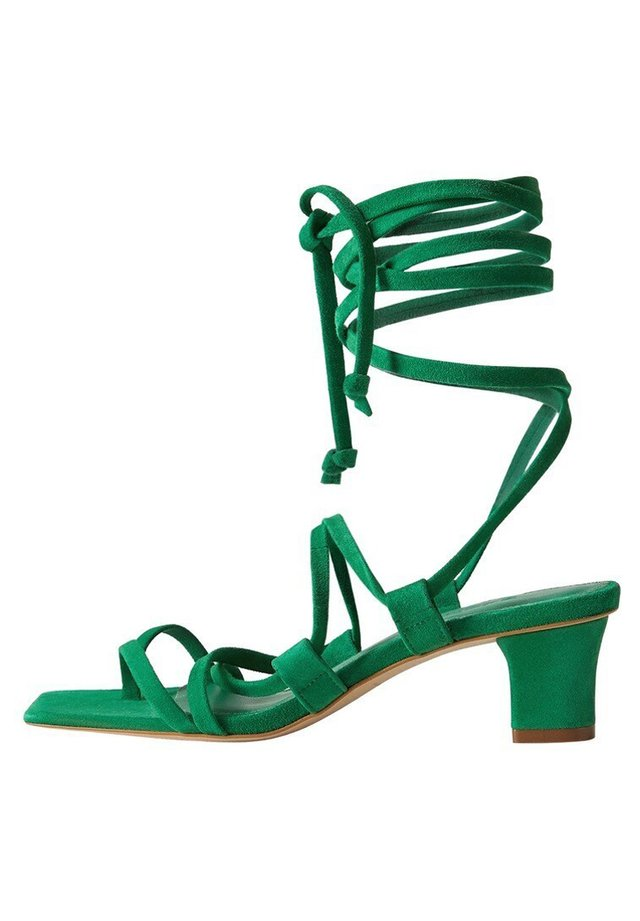 PAMELA - Sandaalit nilkkaremmillä - smaragdgrün