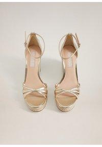 Mango - ELE - High heeled sandals - gold - 5