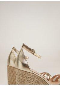 Mango - ELE - High heeled sandals - gold - 6