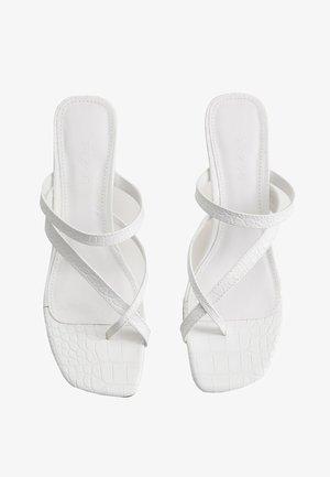 PILE - T-bar sandals - white
