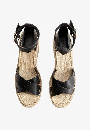 CROSS - Sandaletter med kilklack - schwarz