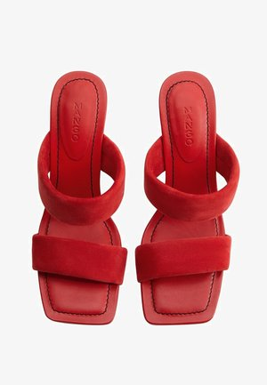 DOS - Heeled mules - rood