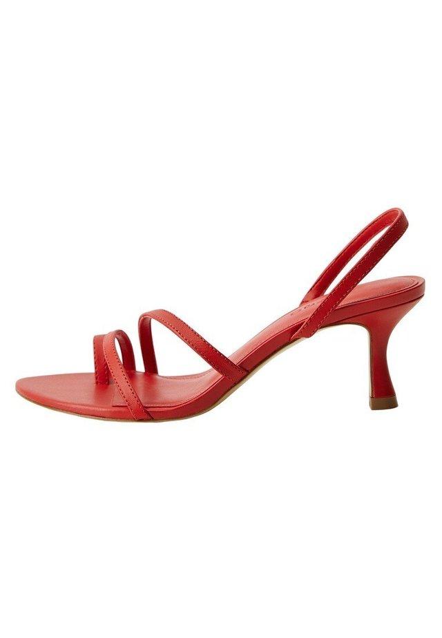 Sandały z cholewką - rot