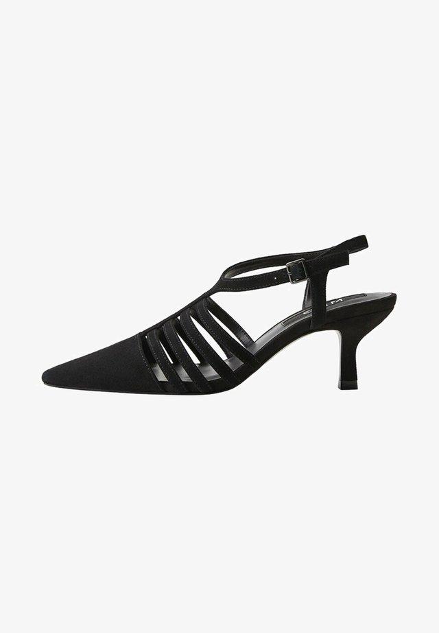 LEDERSCHUHE MIT RIEMEN GRACE-I - Sandals - schwarz