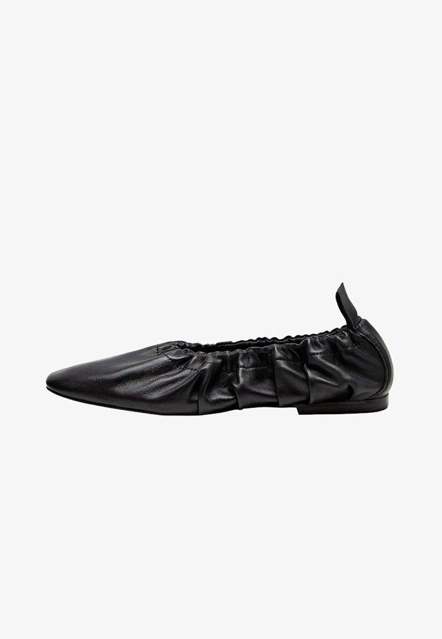 Foldable ballet pumps - schwarz