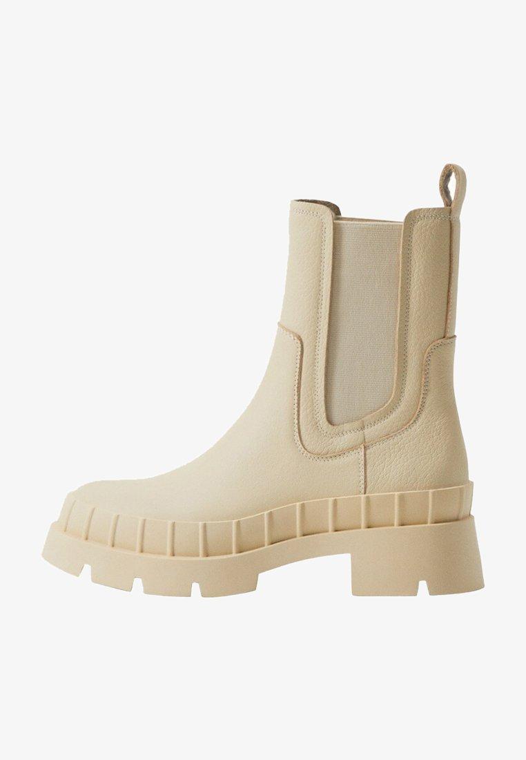 Mango - RAIN-I - Platform ankle boots - blanc cassé
