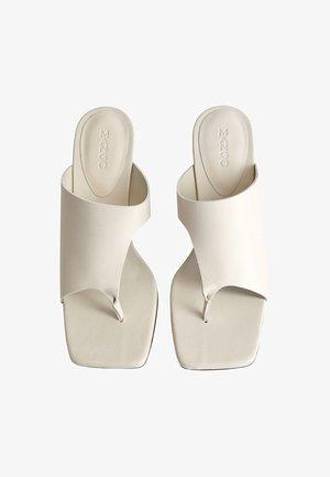 PAULA - Mules à talons - Ivory white