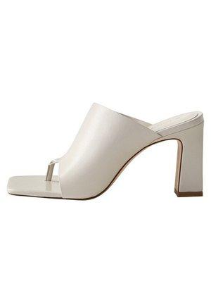 PAULA - Heeled mules - Ivory white