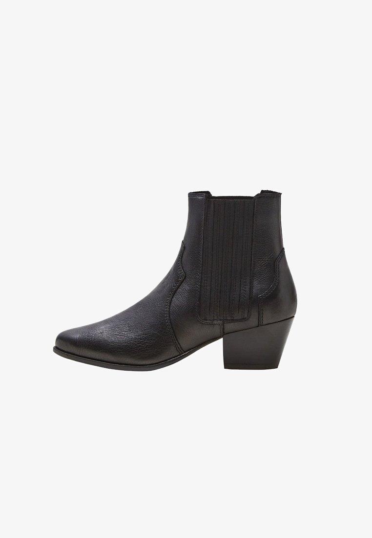Mango - HANNOVER - Cowboy/biker ankle boot - black