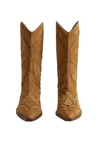 Mango - BUTTER - Cowboy/biker ankle boot - sand - 1