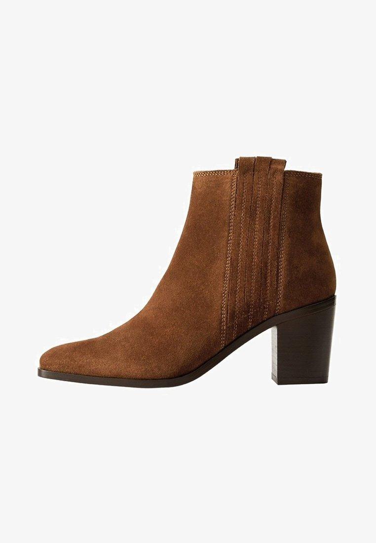 Mango - DESERT - Cowboy/biker ankle boot - brown