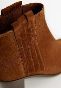 Mango - DESERT - Cowboy/biker ankle boot - brown - 6
