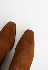 Mango - DESERT - Cowboy/biker ankle boot - brown - 5