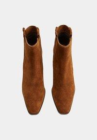 Mango - DESERT - Cowboy/biker ankle boot - brown - 1