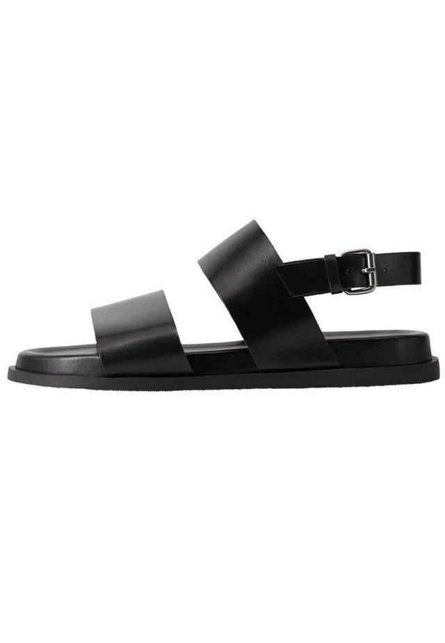 BARNA - Sandaalit nilkkaremmillä - schwarz