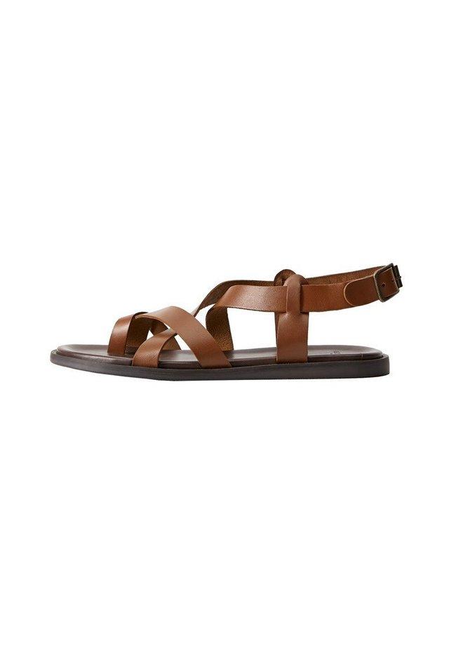 ROMA - Sandaalit nilkkaremmillä - mittelbraun