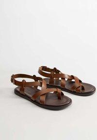 Mango - ROMA - Sandals - mittelbraun - 2
