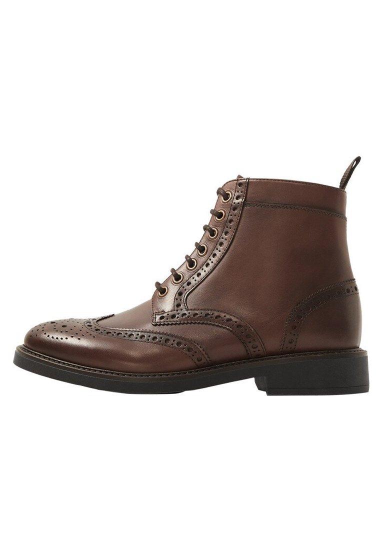 Mango - LIGHT - Lace-up ankle boots - braun