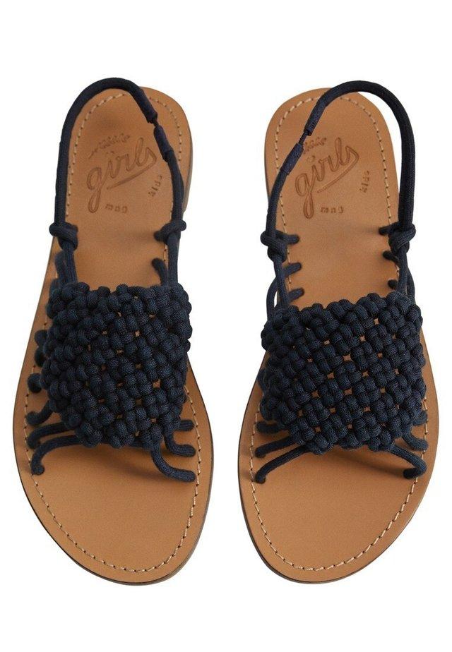MILLER - Sandaalit nilkkaremmillä - donkermarine