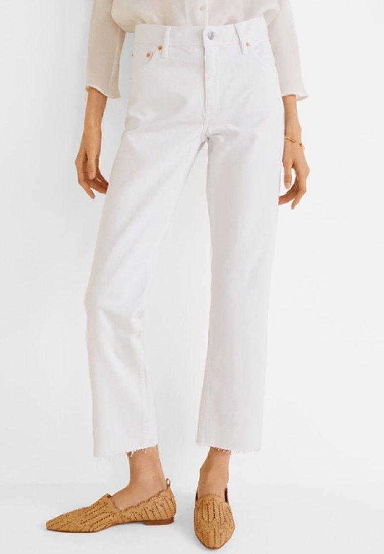 Mango - SAYANA - Jeans Straight Leg - white