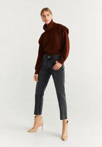 Mango - SAYANA - Straight leg jeans - open grey - 1