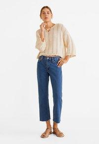 Mango - SAYANA - Jeans Straight Leg - dark blue - 1