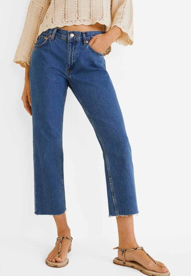 Mango - SAYANA - Jeans Straight Leg - dark blue