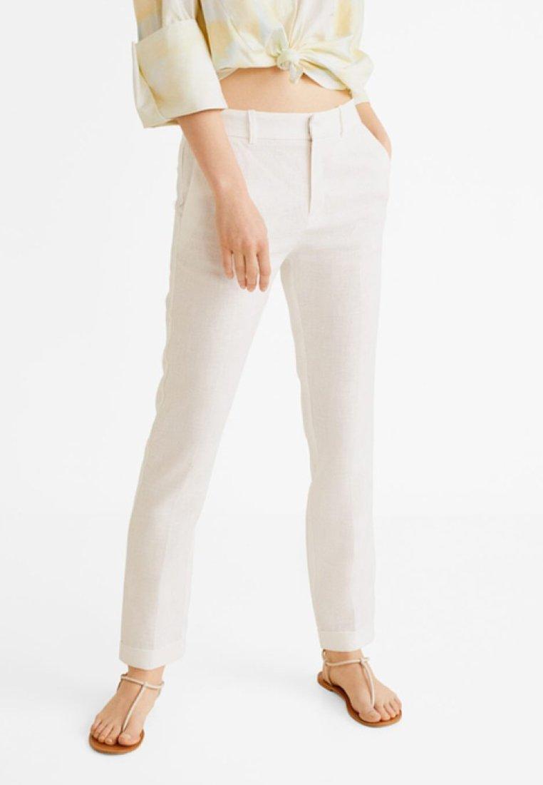 Mango - BORELI - Pantalon classique - white