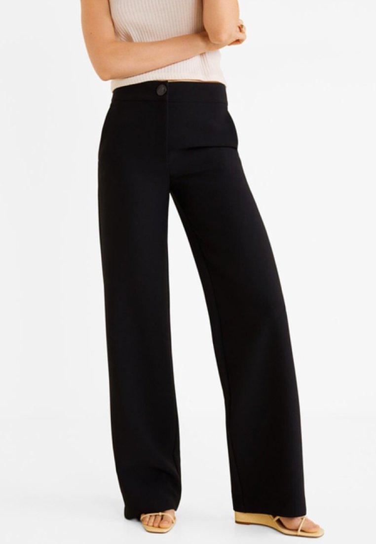Mango - SIMON - Spodnie materiałowe - black