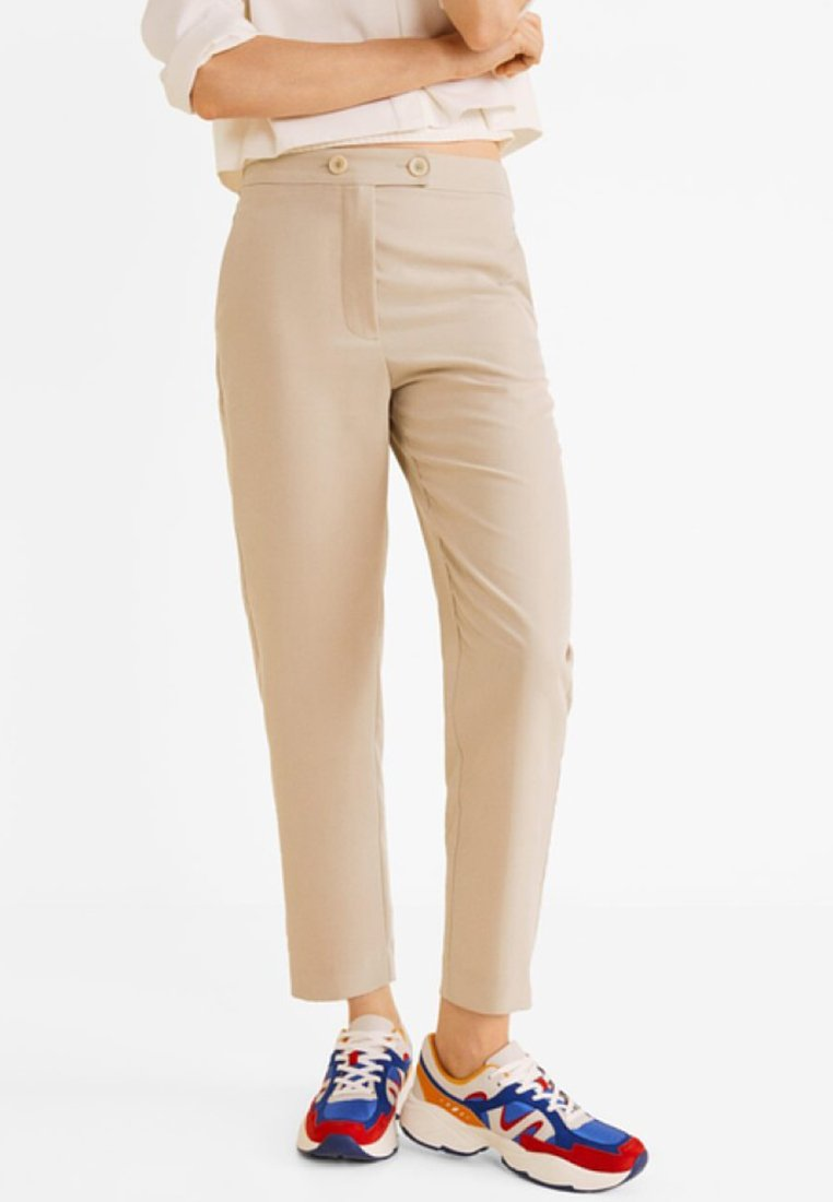 Mango - TEMPO - Stoffhose - light grey