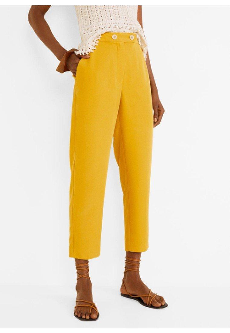Mango - TEMPO - Stoffhose - mustard yellow