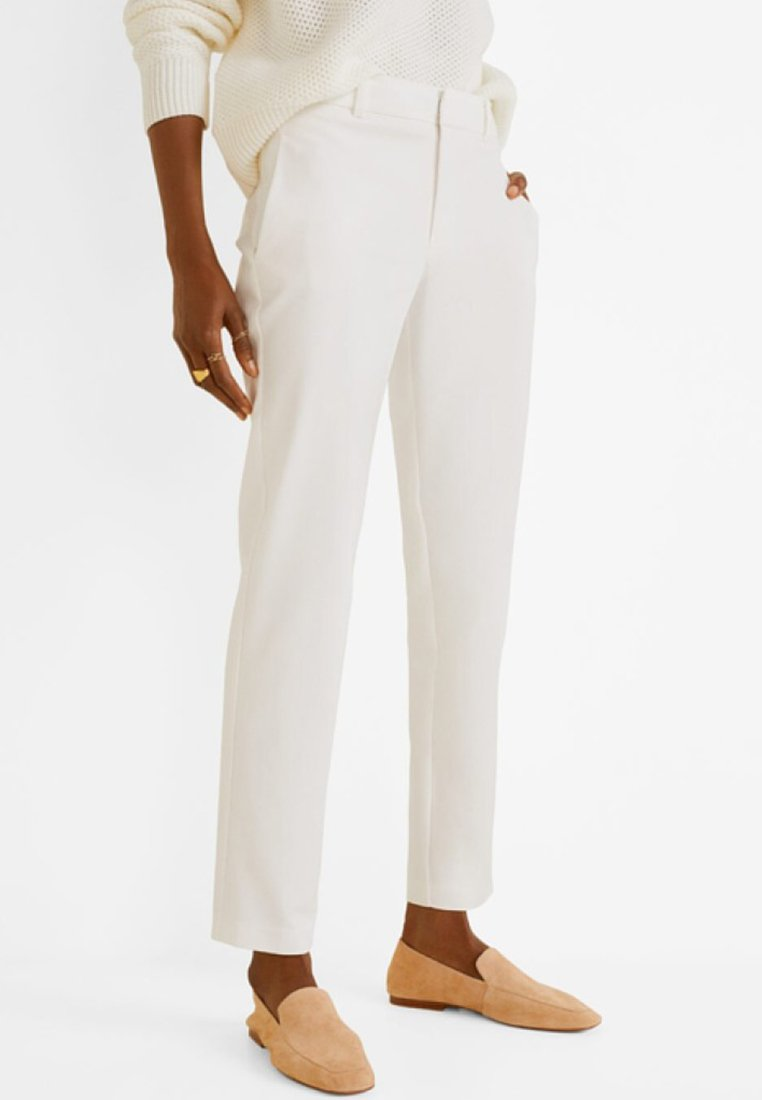 Mango - ALBERTO - Trousers - white